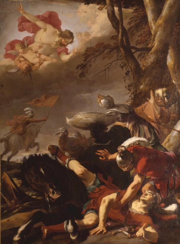 Peinture de la conversion de saint Paul par Laurent de la Hyre