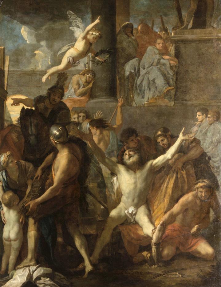 Peinture du crucifiement de saint André par Charles le Brun