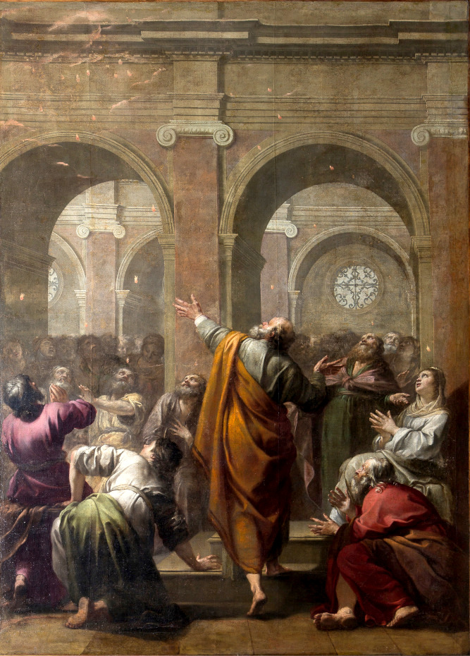 Peinture de la descente du Saint-Esprit par Jacques Blanchard
