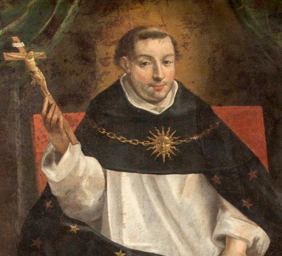 Peinture de saint Thomas d'Acquin, Fontaine de Sagesse par Antoine Nicolas