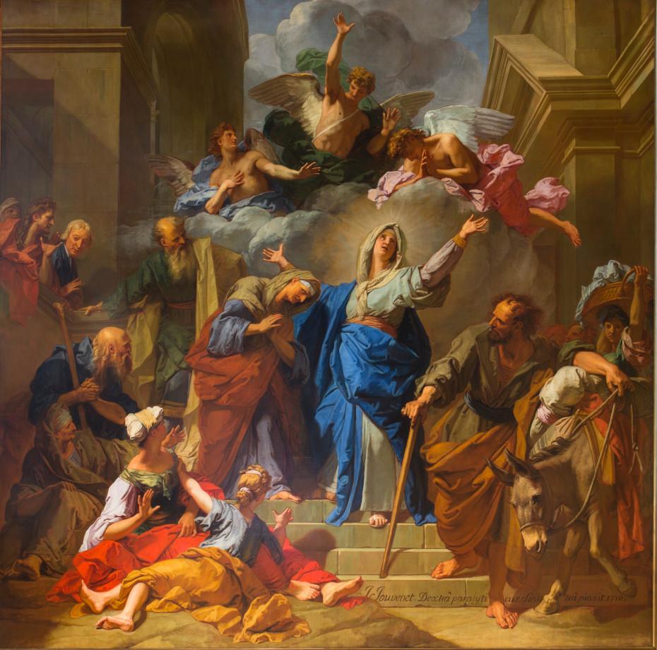 Peinture de la visitation par Jean Jouvenet
