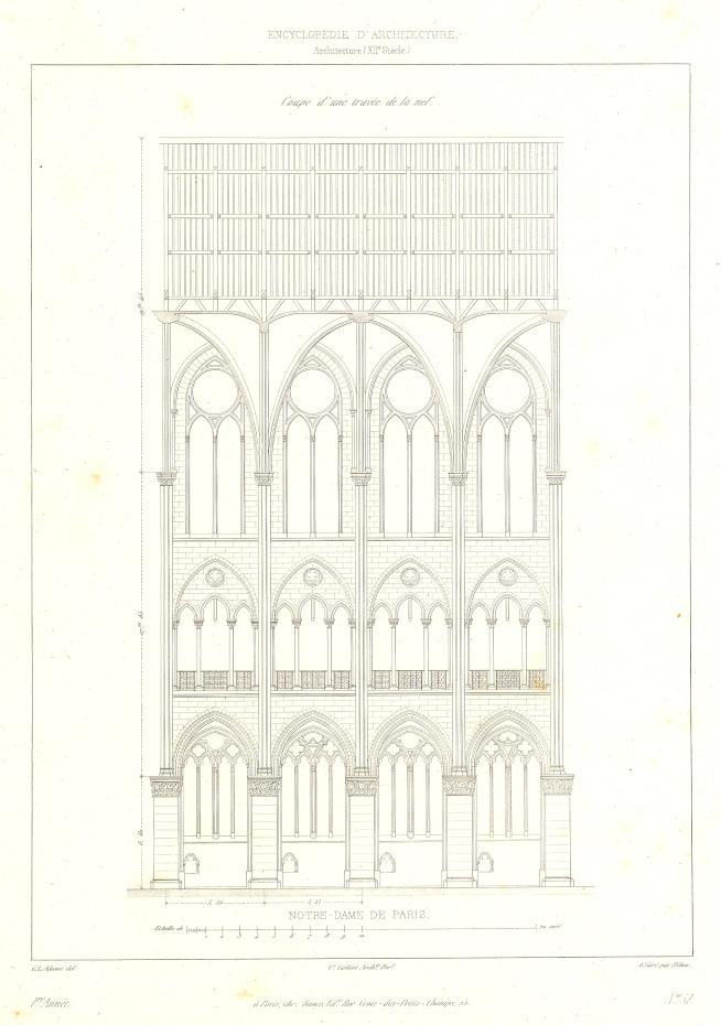 Plans de la façade de la cathédrale