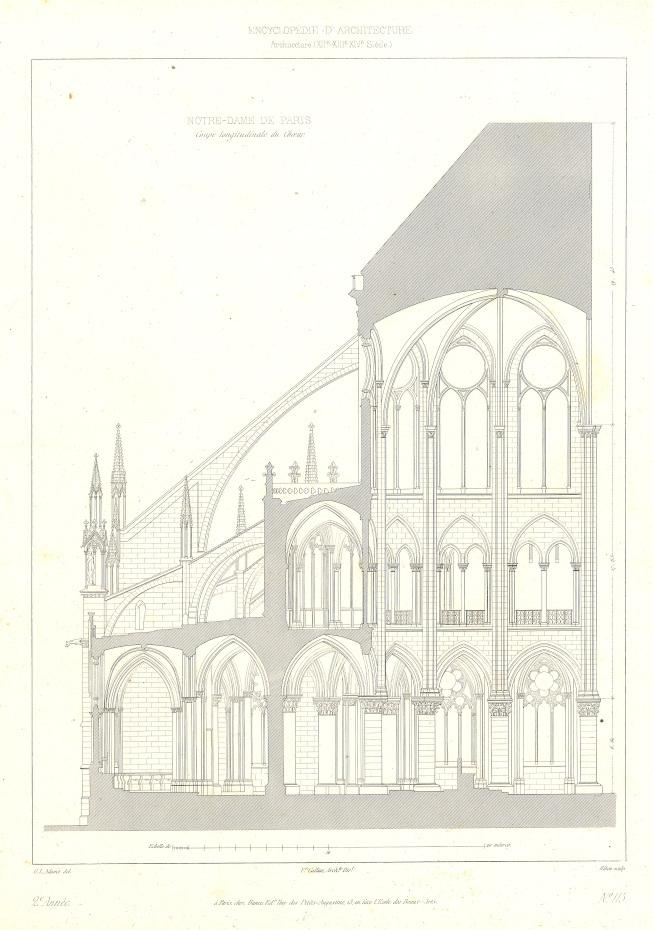 Plans en coupe de la cathédrale