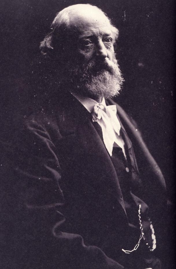 Portrait de l'architecte Eugène Viollet-le-Duc en noir et blanc