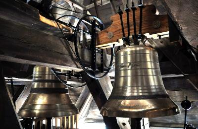 Deux des huit cloches de Notre-Dame et leur mécanisme