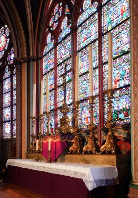 Vitrail de la vie de saint Étienne