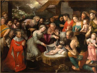 Peinture de l'adoration des bergers par Jérôme Francken
