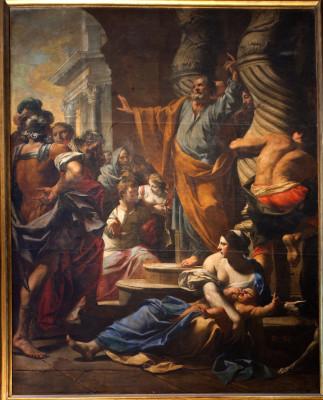 Peinture de la prédication de saint Pierre à Jérusalem par Charles Poërson