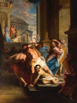 Peinture des fils de Sceva Battus par le démon par Mathieu Elyas