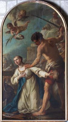 Peinture du martyre de sainte Catherine par Joseph-Marie Vien