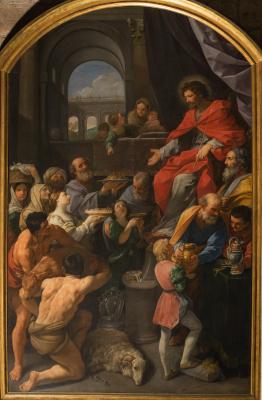 Peinture du triomphe de Job par Guido Reni