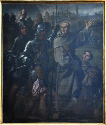 Peinture de saint Bernardin de Sienne délivrant la ville de Capri par Ludovico Carrache