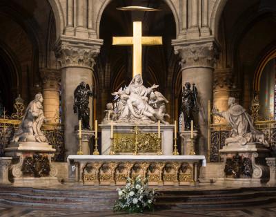 Vue d'ensemble de l'emplacement de la Pieta, également appelée la Vierge de Pitié